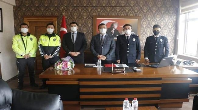 YEŞİLHİSAR'DA POLİS HAFTASI ZİYARETİ