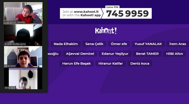 ÖĞRENCİLER KAHOOT'TA BULUŞUYOR PROJESİ