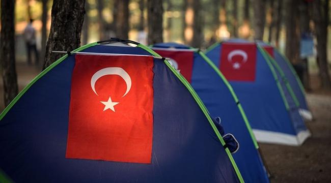 """BÜYÜKŞEHİR'İN """"DOĞA KAMPI"""" BAŞLADI"""